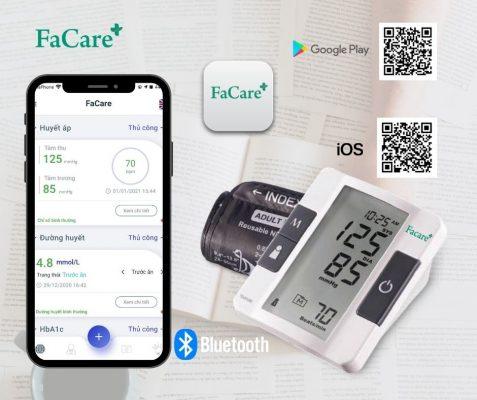 Máy đo huyết áp bắp tay FaCare P168 kết nối bluetooth