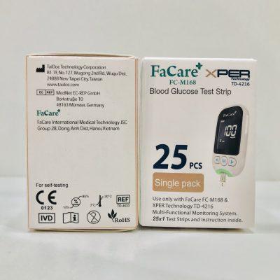 Que thử đường huyết, 25 que cho máy đo đa thông số 5 trong 1 FC-M168